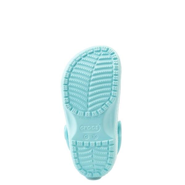 alternate view Crocs Classic Glitter Clog - Baby / Toddler / Little Kid - Ice BlueALT3