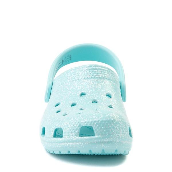 alternate view Crocs Classic Glitter Clog - Baby / Toddler / Little Kid - Ice BlueALT4