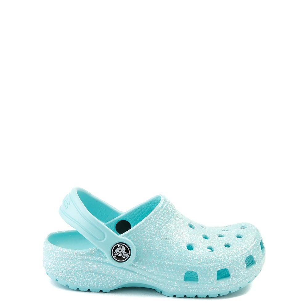 Crocs Classic Glitter Clog - Baby / Toddler / Little Kid - Ice Blue