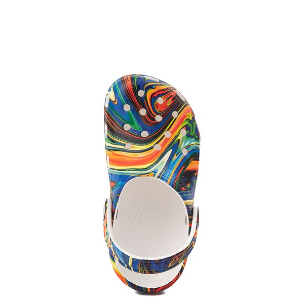 alternate view Crocs Classic Clog - Baby / Toddler / Little Kid - White / Marbled MulticolorALT4B