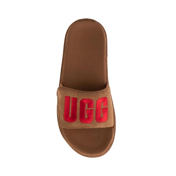 alternate view Womens UGG® Laton Slide Sandal - ChestnutALT1