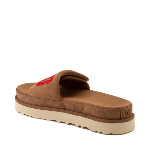 alternate view Womens UGG® Laton Slide Sandal - ChestnutALT2