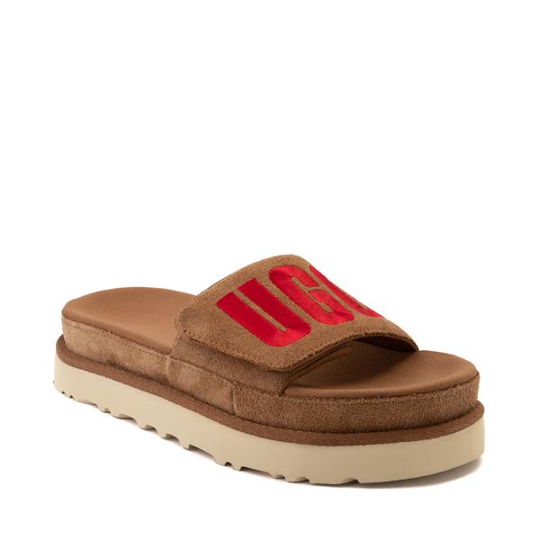 alternate view Womens UGG® Laton Slide Sandal - ChestnutALT5