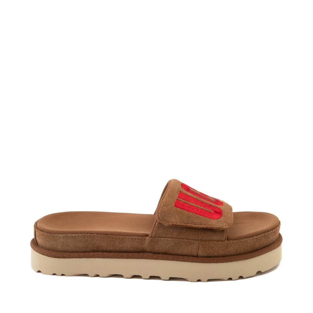 Womens UGG® Laton Slide Sandal - Chestnut