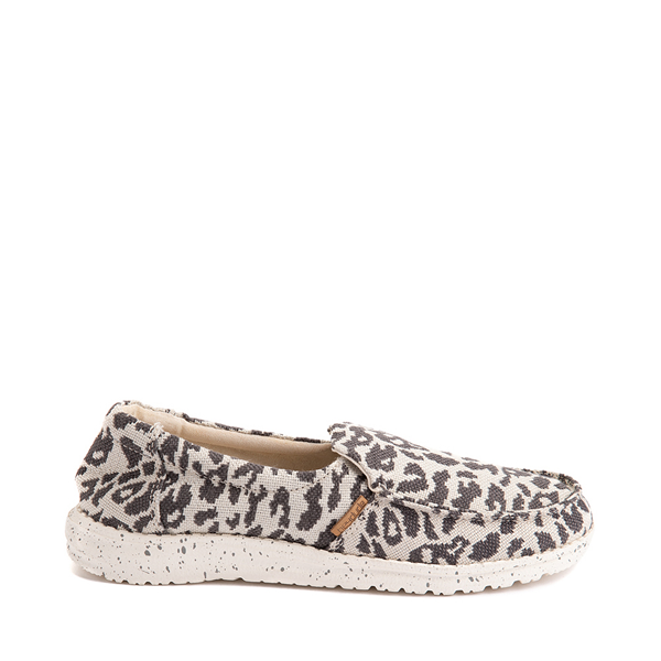 Womens Hey Dude Misty Slip On Casual Shoe - Gray Leopard