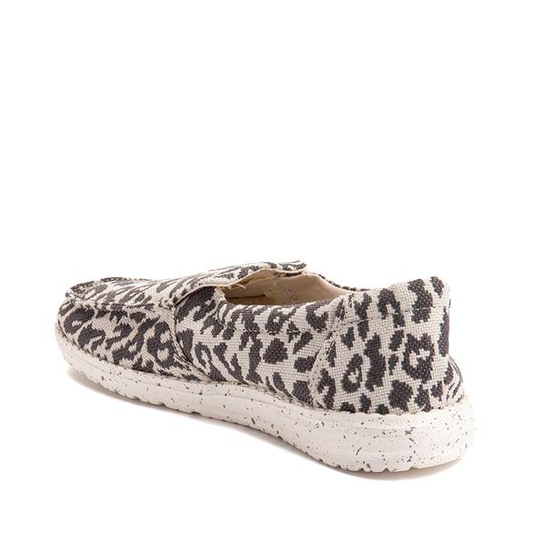 alternate view Womens Hey Dude Misty Slip On Casual Shoe - Gray LeopardALT1