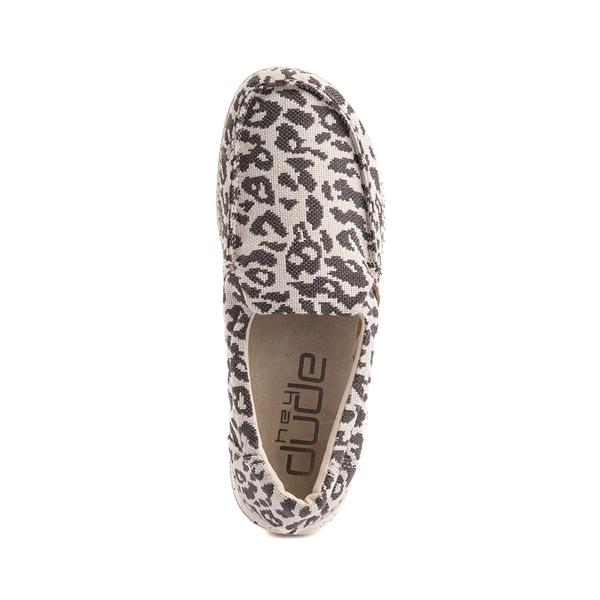 alternate view Womens Hey Dude Misty Slip On Casual Shoe - Gray LeopardALT2
