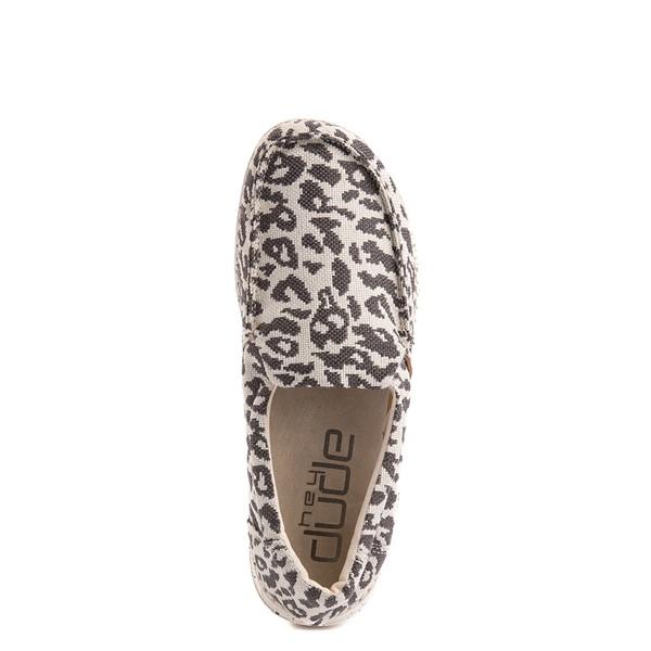 alternate view Womens Hey Dude Misty Slip On Casual Shoe - Gray LeopardALT4B