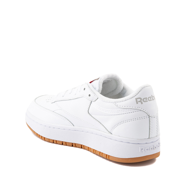 alternate view Reebok Club C Double Athletic Shoe - Big Kid - White / GumALT1