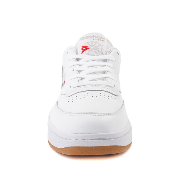 alternate view Reebok Club C Double Athletic Shoe - Big Kid - White / GumALT4