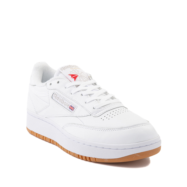 alternate view Reebok Club C Double Athletic Shoe - Big Kid - White / GumALT5
