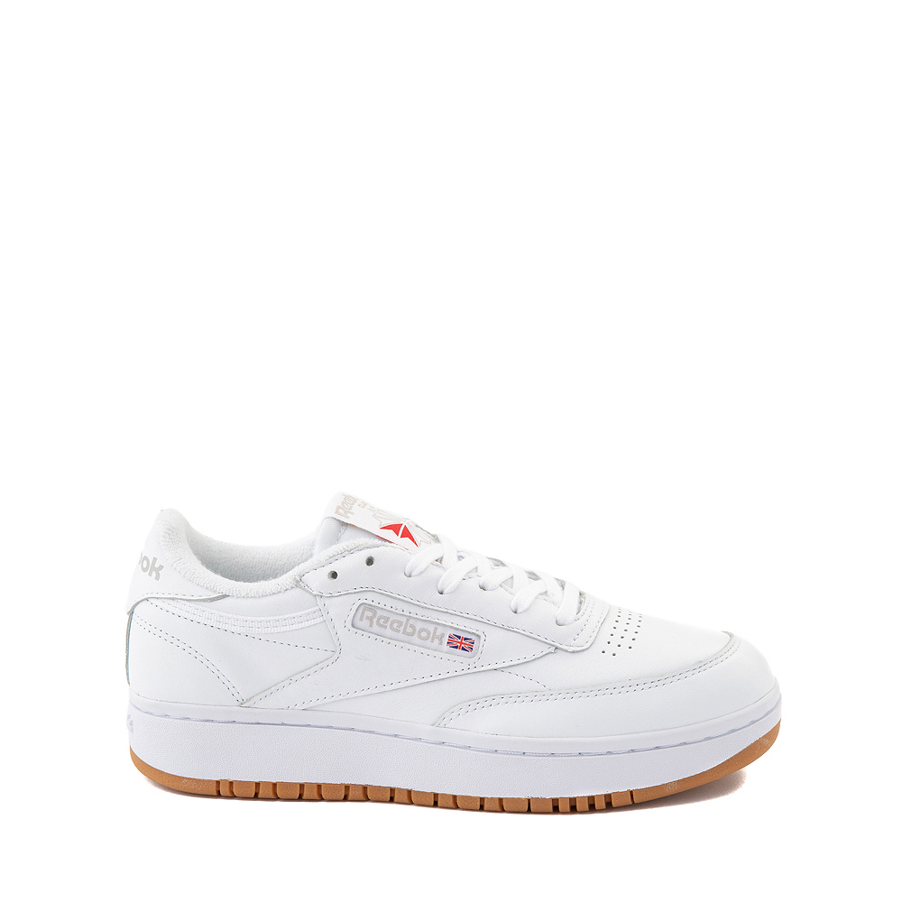 Reebok Club C Double Athletic Shoe - Big Kid - White / Gum