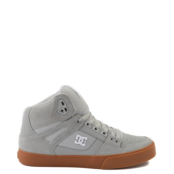 Mens DC Pure Hi SE Skate Shoe - Gray / Gum