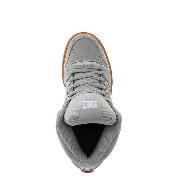 alternate view Mens DC Pure Hi SE Skate Shoe - Gray / GumALT2