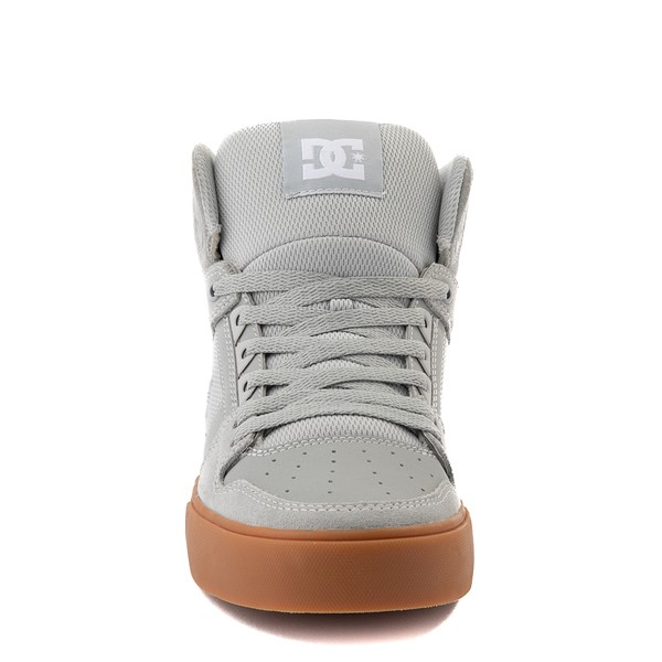 alternate view Mens DC Pure Hi SE Skate Shoe - Gray / GumALT4