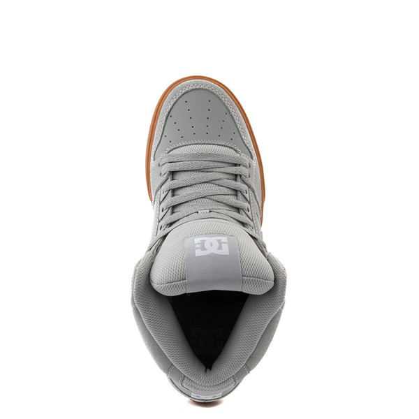 alternate view Mens DC Pure Hi SE Skate Shoe - Gray / GumALT4B
