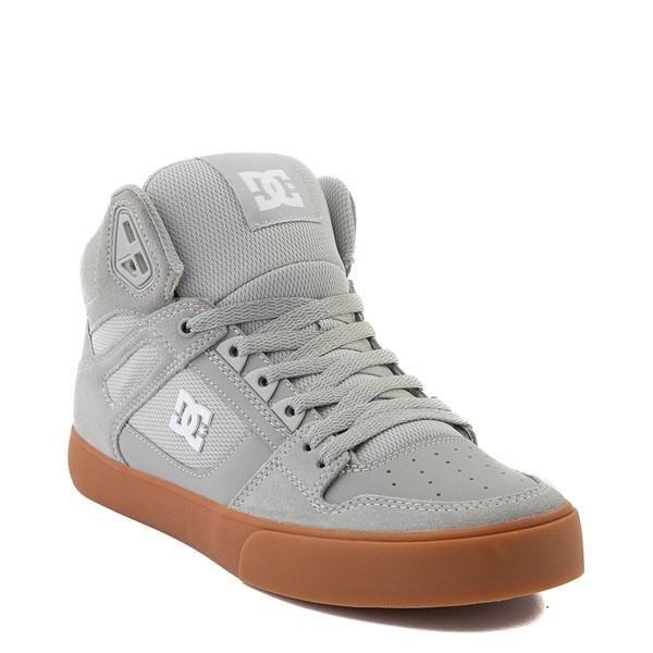 alternate view Mens DC Pure Hi SE Skate Shoe - Gray / GumALT5