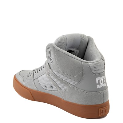 Alternate view of Mens DC Pure Hi SE Skate Shoe - Gray / Gum