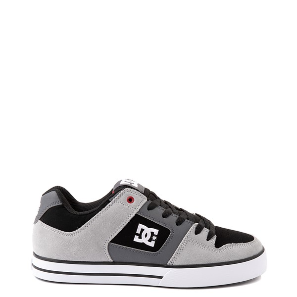 Main view of Mens DC Pure Skate Shoe - Gray / Black