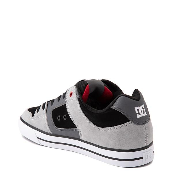 alternate view Mens DC Pure Skate Shoe - Gray / BlackALT1