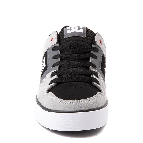 alternate view Mens DC Pure Skate Shoe - Gray / BlackALT4