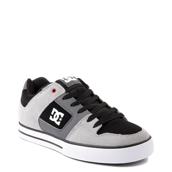 alternate view Mens DC Pure Skate Shoe - Gray / BlackALT5