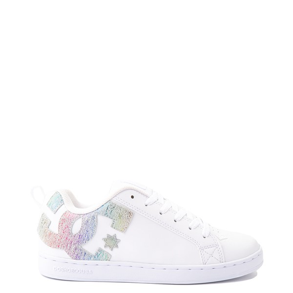Womens DC Court Graffik Skate Shoe - White / Rainbow