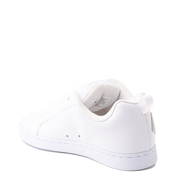 alternate view Womens DC Court Graffik Skate Shoe - White / RainbowALT1