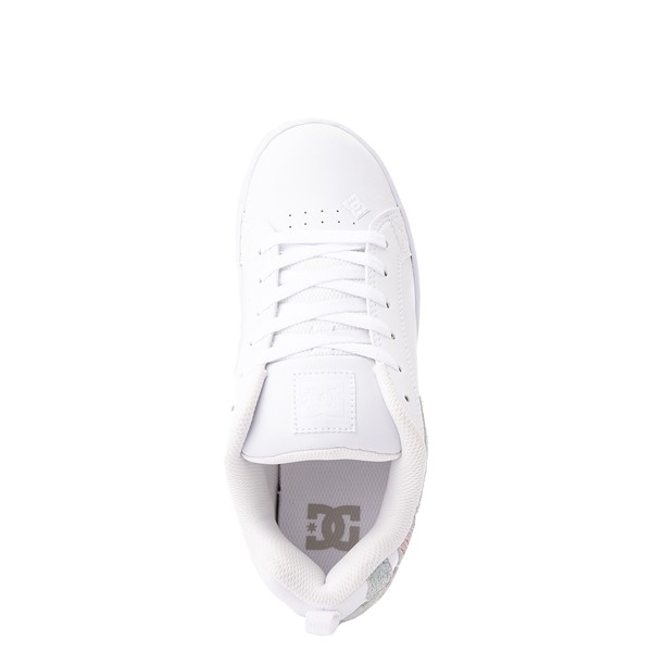 alternate view Womens DC Court Graffik Skate Shoe - White / RainbowALT2