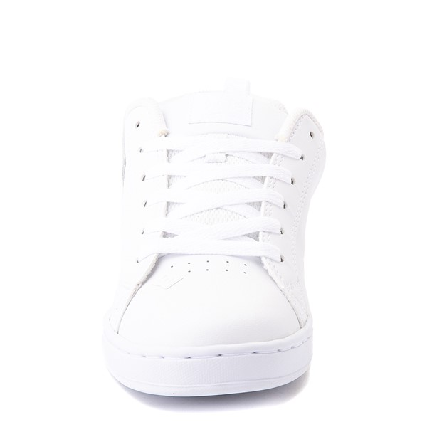 alternate view Womens DC Court Graffik Skate Shoe - White / RainbowALT4
