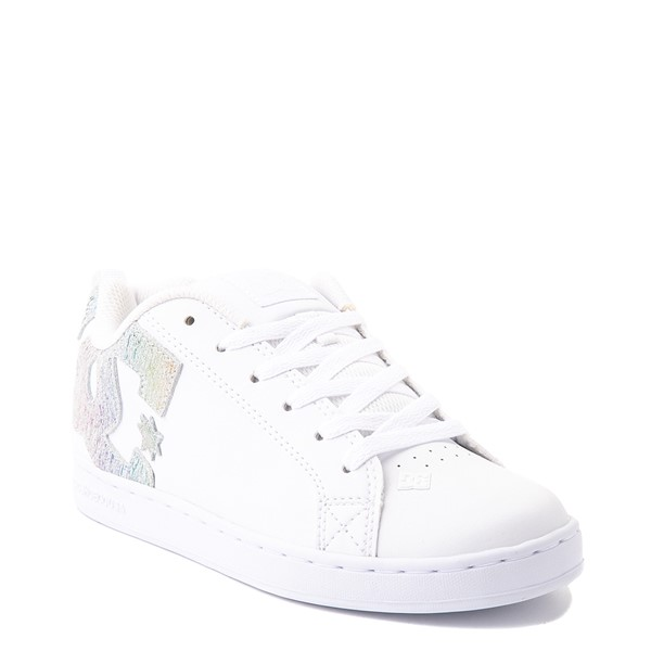 alternate view Womens DC Court Graffik Skate Shoe - White / RainbowALT5
