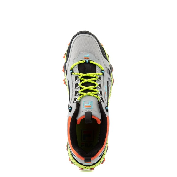 alternate view Mens Fila Oakmont TR Athletic Shoe - Highrise / Black / Safety YellowALT2
