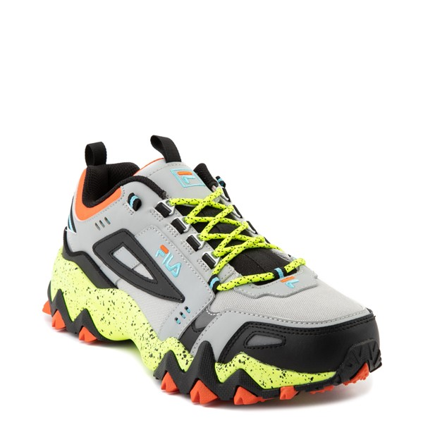 alternate view Mens Fila Oakmont TR Athletic Shoe - Highrise / Black / Safety YellowALT5