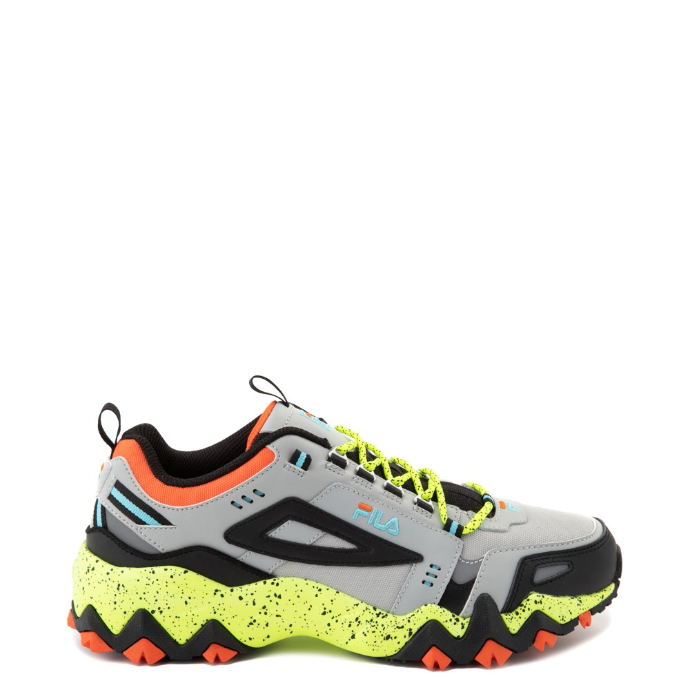 Mens Fila Oakmont TR Athletic Shoe - Highrise / Black / Safety Yellow