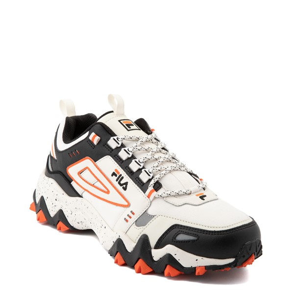 alternate view Mens Fila Oakmont TR Athletic Shoe - Gardenia / Black / RedALT5
