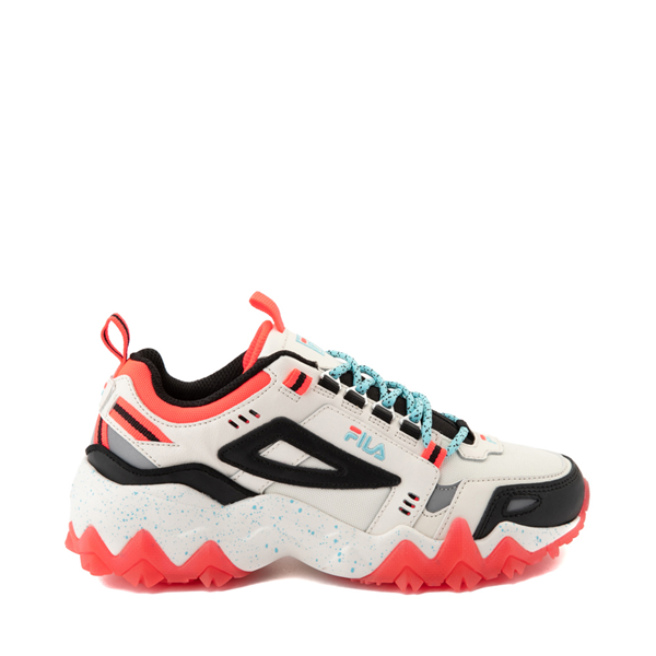 Main view of Womens Fila Oakmont TR Athletic Shoe - Gardenia / Black / Diva Pink