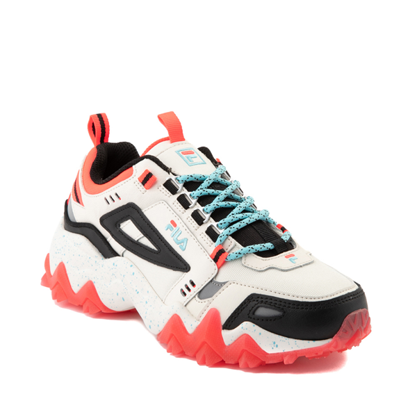 alternate view Womens Fila Oakmont TR Athletic Shoe - Gardenia / Black / Diva PinkALT5