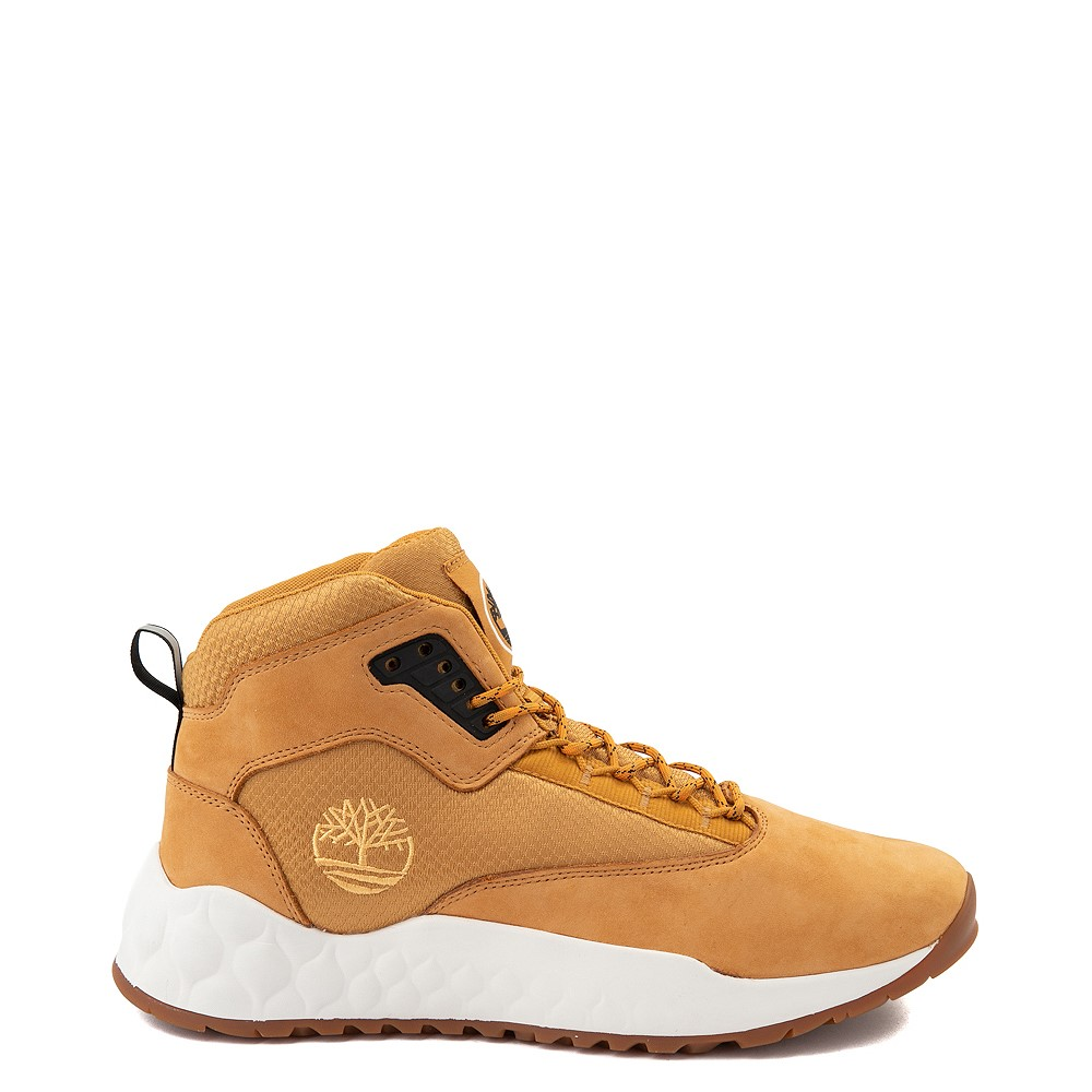 Mens Timberland Solar Wave Mixed-Media Sneaker Boot - Wheat