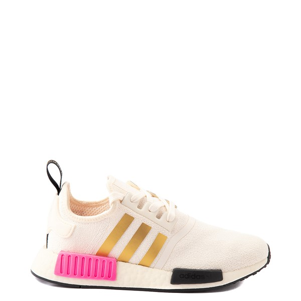Main view of Womens adidas NMD R1 Athletic Shoe - Cream / Screaming Pink