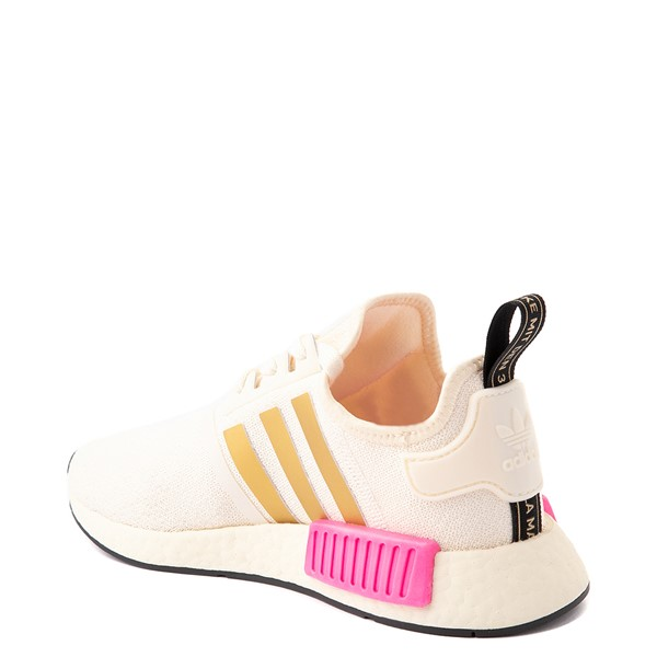 alternate view Womens adidas NMD R1 Athletic Shoe - Cream / Screaming PinkALT1