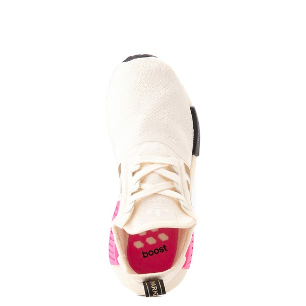 alternate view Womens adidas NMD R1 Athletic Shoe - Cream / Screaming PinkALT2