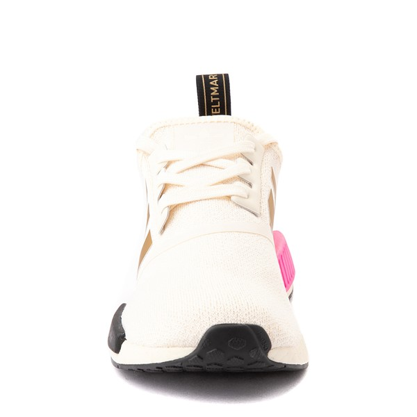 alternate view Womens adidas NMD R1 Athletic Shoe - Cream / Screaming PinkALT4