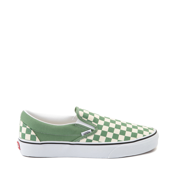 Vans Slip On Checkerboard Skate Shoe - Shale Green