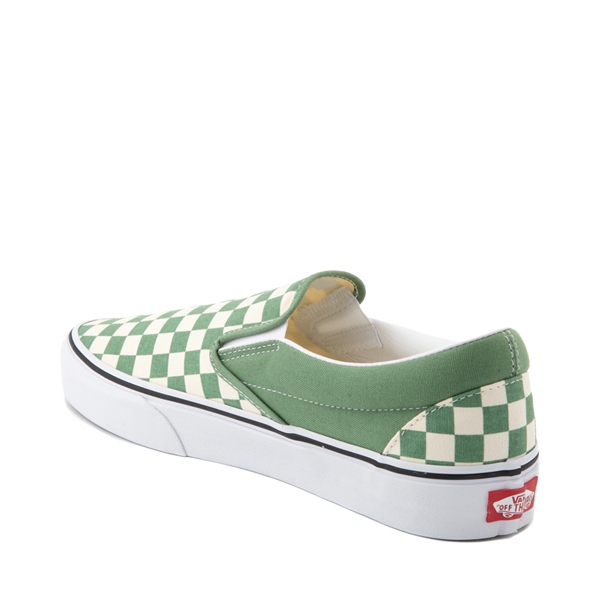 alternate view Vans Slip On Checkerboard Skate Shoe - Shale GreenALT1
