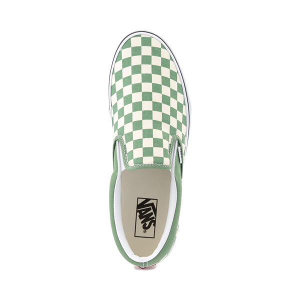 alternate view Vans Slip On Checkerboard Skate Shoe - Shale GreenALT2