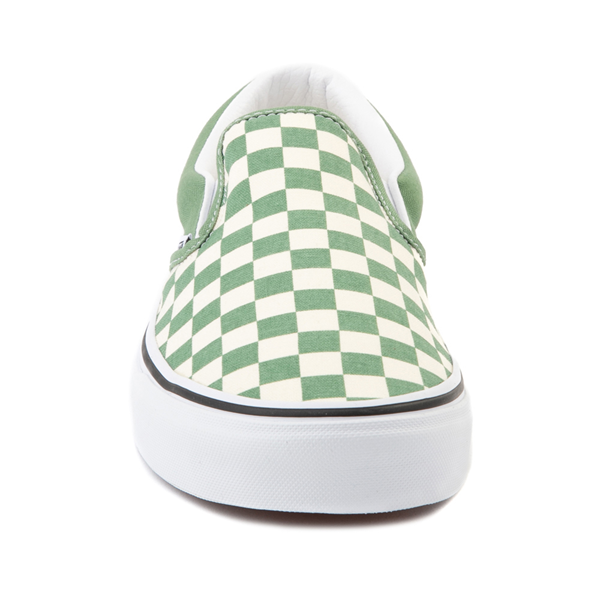 alternate view Vans Slip On Checkerboard Skate Shoe - Shale GreenALT4