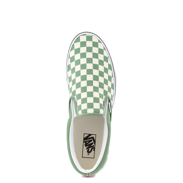 alternate view Vans Slip On Checkerboard Skate Shoe - Shale GreenALT4B