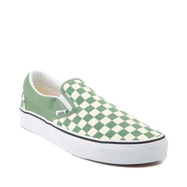 alternate view Vans Slip On Checkerboard Skate Shoe - Shale GreenALT5