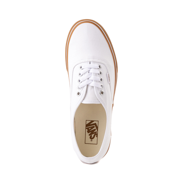 alternate view Vans Authentic Skate Shoe - White / GumALT2