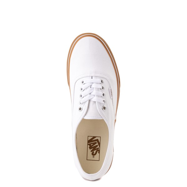 alternate view Vans Authentic Skate Shoe - White / GumALT4B